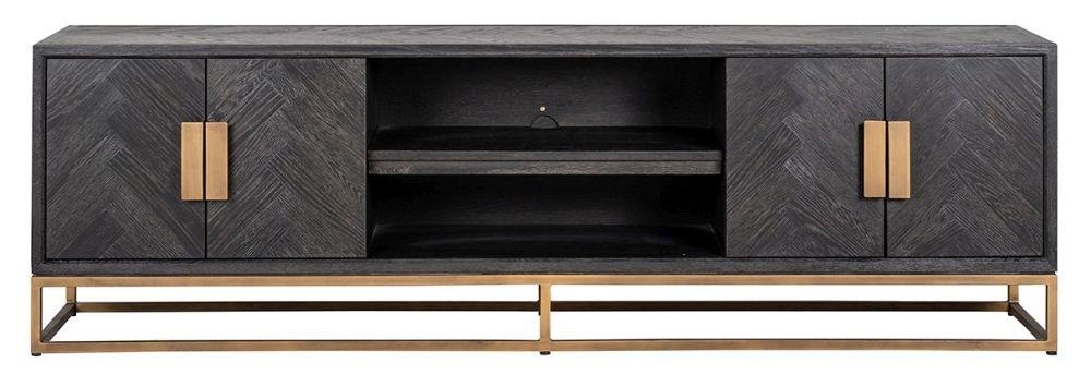Blackbone Black Oak and Brass TV Cabinet