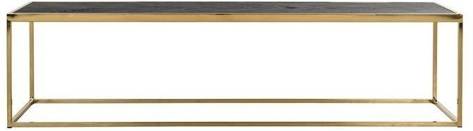 Blackbone Black Oak and Gold Coffee Table