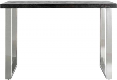 Blackbone Black Oak and Silver Bar Table