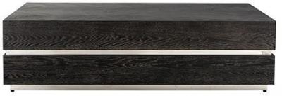 Blackbone Black Oak and Silver Block Coffee Table