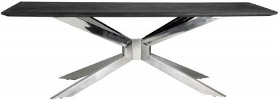 Blackbone Matrix Silver and Chrome Dining Table