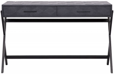 Blax Black Oak 2 Drawer Desk