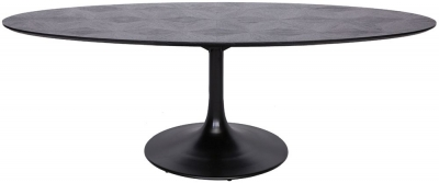 Blax Black Oak 230cm Oval Dining Table