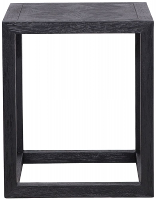 Blax Black Oak Square Corner Table