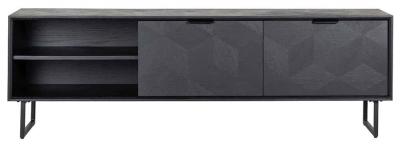 Blax Black Oak 2 Door TV Unit