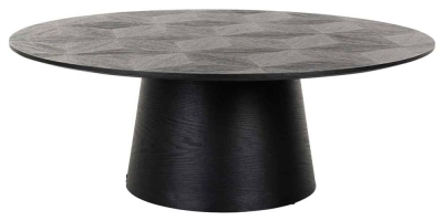 Blax Black Oak Round Coffee Table