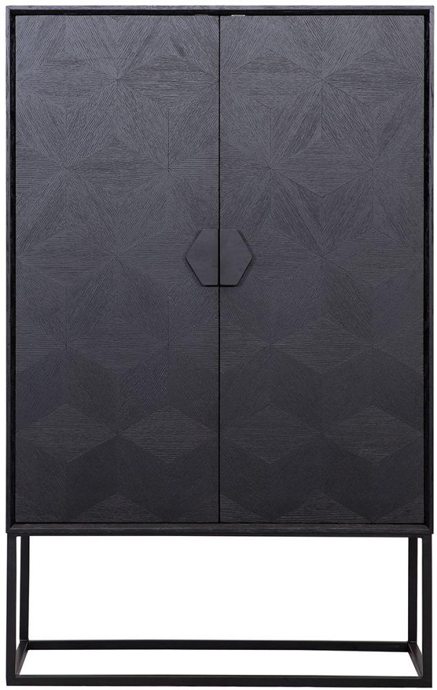 Blax Black Oak 2 Door Display Cabinet