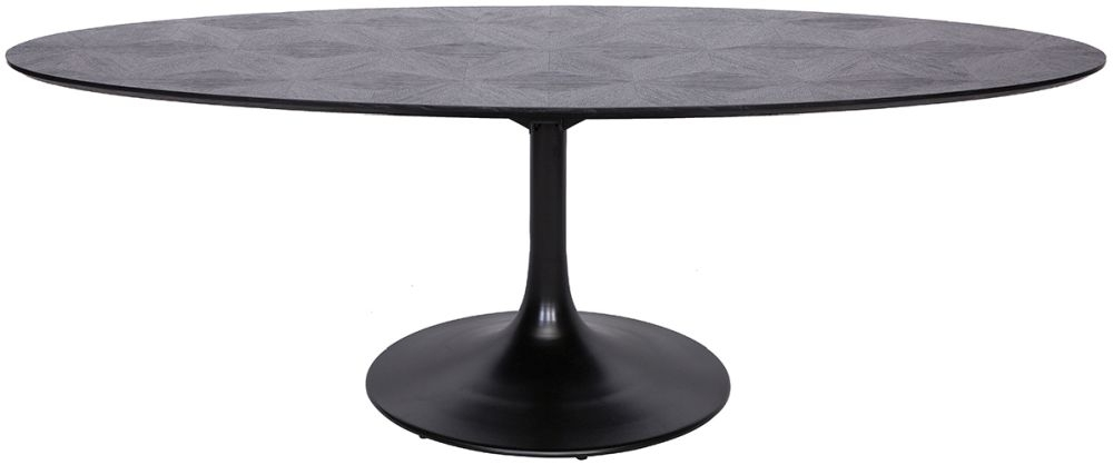 Blax Black Oak 230cm Oval Dining Table