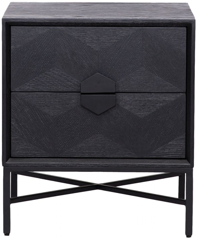Blax Black Oak 2 Drawer Chest