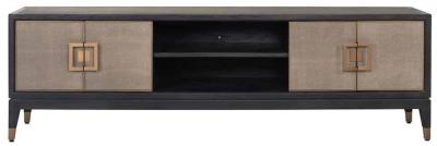 Bloomingville Shagreen Faux Leather 4 Door TV Unit