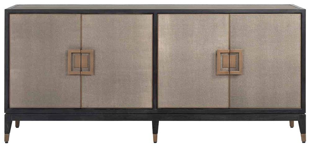 Bloomingville Shagreen Faux Leather 4 Door Sideboard