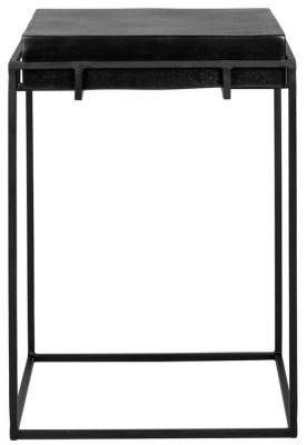 Bolder Aluminium Black Side Table