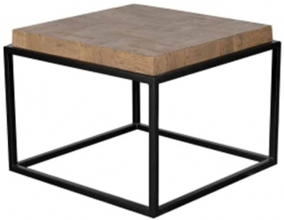 Bonanza Old Oak and Metal Side Table