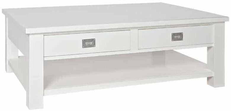 Boxx Painted Coffee Table - 2 Drawer 1 Shelves