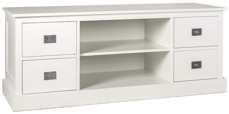 Boxx Painted TV Unit - 4 Drawer