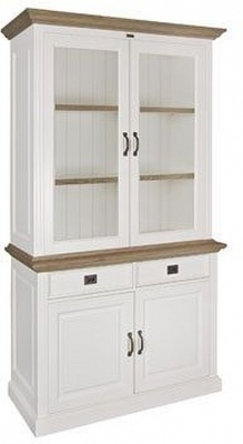Oakdale 4 Door 2 Drawer Small Display Cabinet