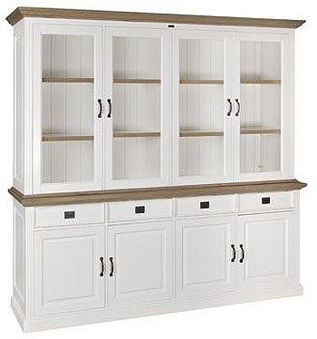 Oakdale 4 Door 4 Drawer Display Cabinet