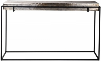 Calloway Champagne Gold and Black Console Table