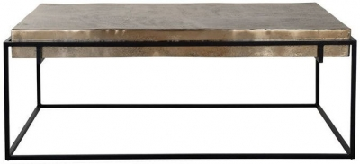 Calloway Champagne Gold Coffee Table