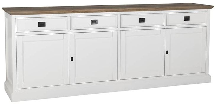 Cardiff Oak Sideboard - 4 Door 4 Drawer