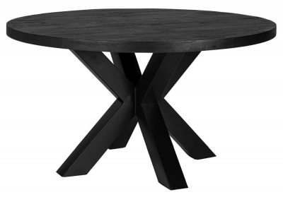 Catana 140cm Black Mango Wood Dining Table