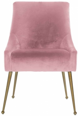 Indy Chair - Pink Velvet and Gold