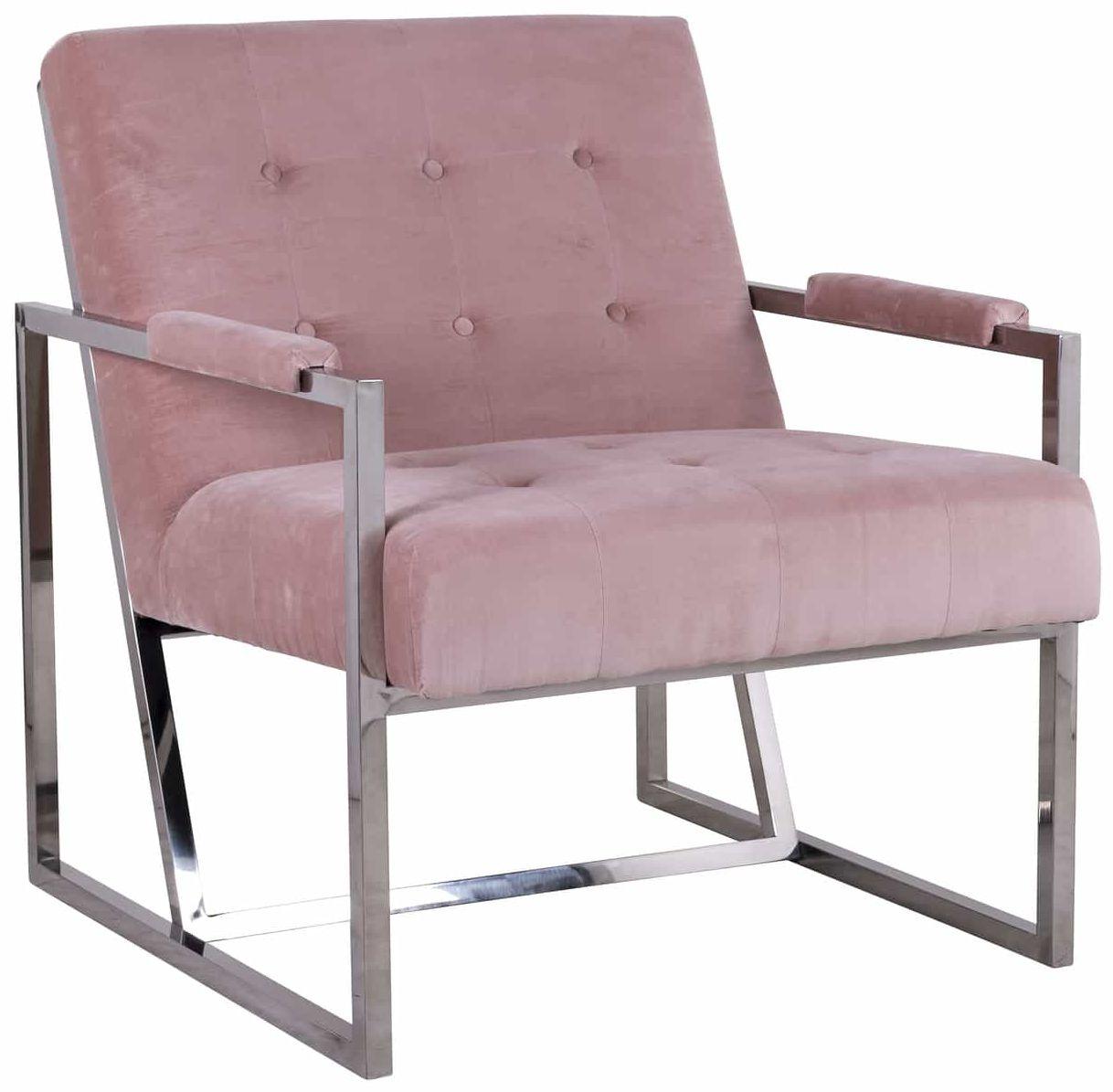 Bentley Pink Velvet Armchair