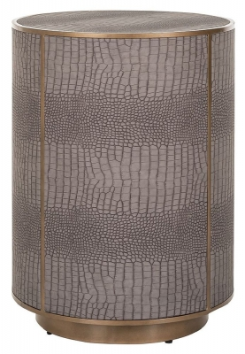 Classio Vegan Leather Side Table