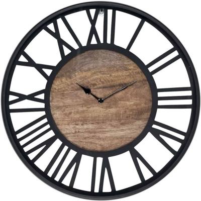 Scott Black Round Clock