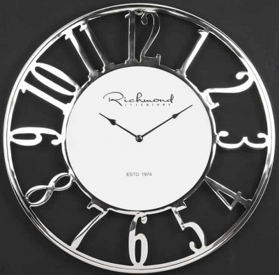 Westin Silver Round Clock