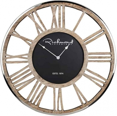 Johnson Skeleton Round Clock