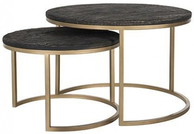 Belfort Round Coffee Table (Set of 2)