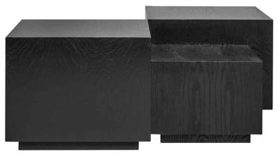 Quatro Black Coffee Table (Set of 4)