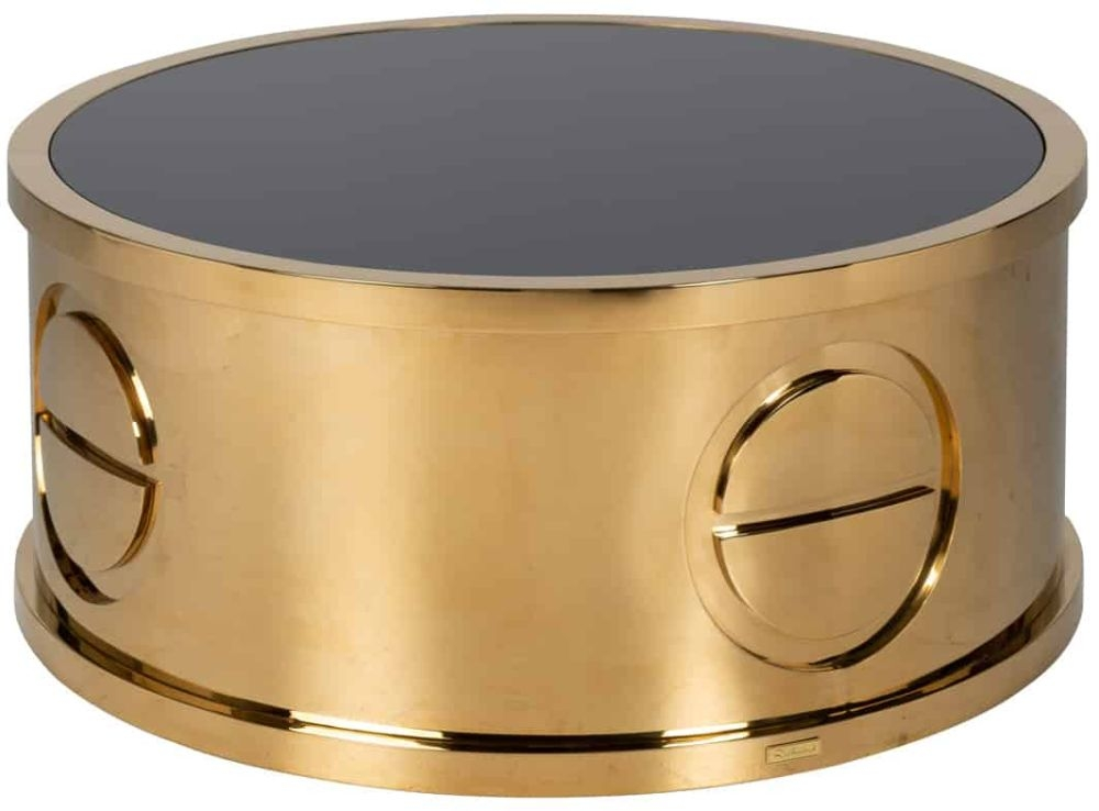Honey Gold Round Coffee Table