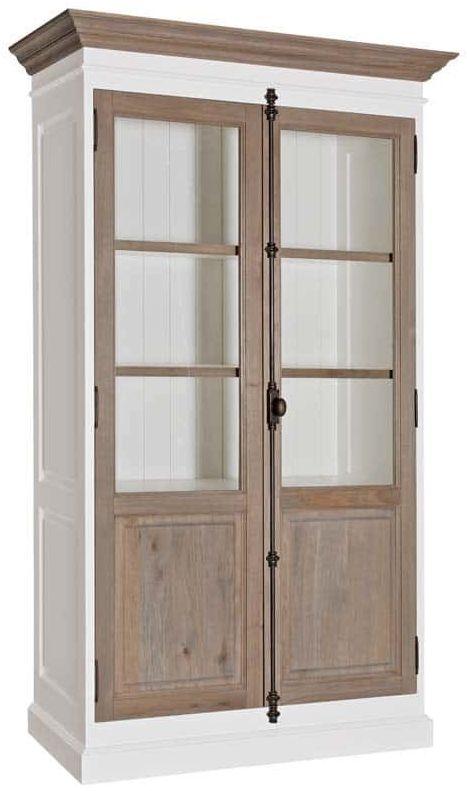 Country Oak Display Cabinet - 2 Door