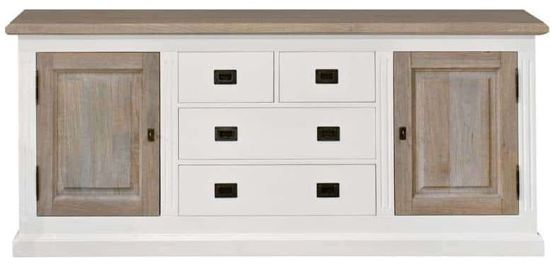Country Oak Sideboard - 2 Door 4 Drawer 6164 DR