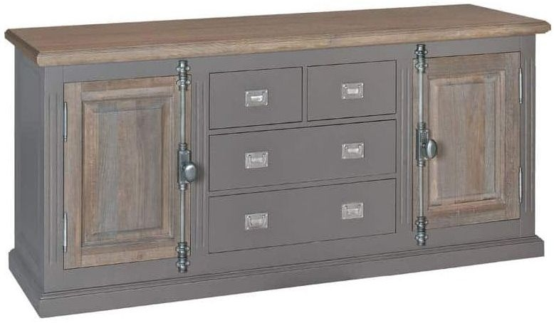 Country Oak Sideboard - 2 Door 4 Drawer 6169 DR