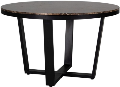 Dalton Brown Emperador Marble 130cm Round Dining Table