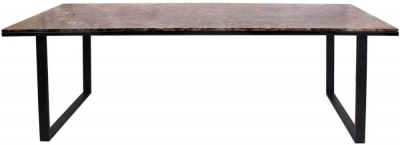Dalton Brown Emperador Marble 230cm Dining Table