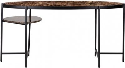 Dalton Brown Emperador Marble Desk