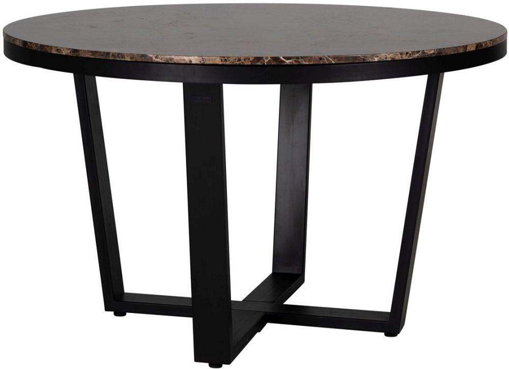 Dalton Brown Emperador Marble 130cm Round Dining Table
