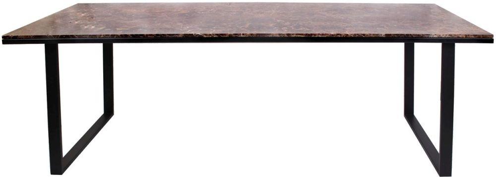 Dalton Brown Emperador Marble 200cm Dining Table