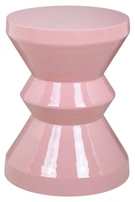 Diablo Pink Round Side table