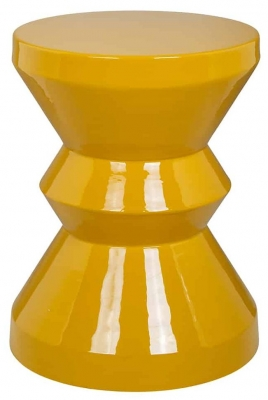 Diablo Yellow Round Side Table