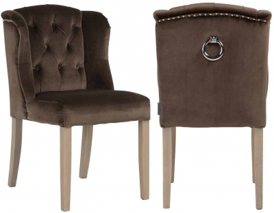 Macy Fabric Dining Chair (Pair)
