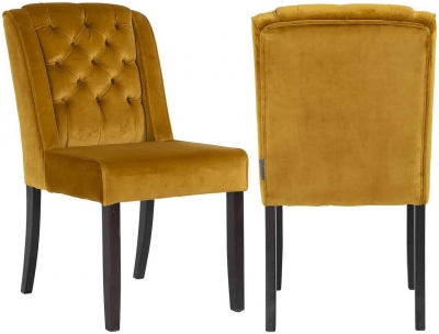 Solo Fabric Dining Chair (Pair)