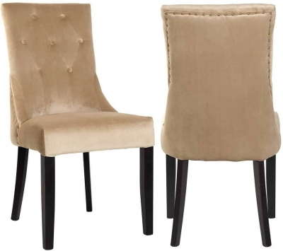 Sandy Fabric Dining Chair (Pair)
