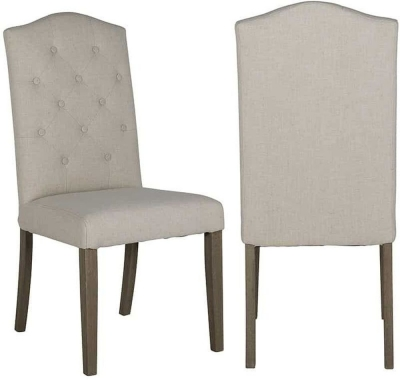 Sylvana Fabric Dining Chair (Pair)