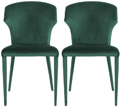 Piper Green Velvet Dining Chair (Pair)