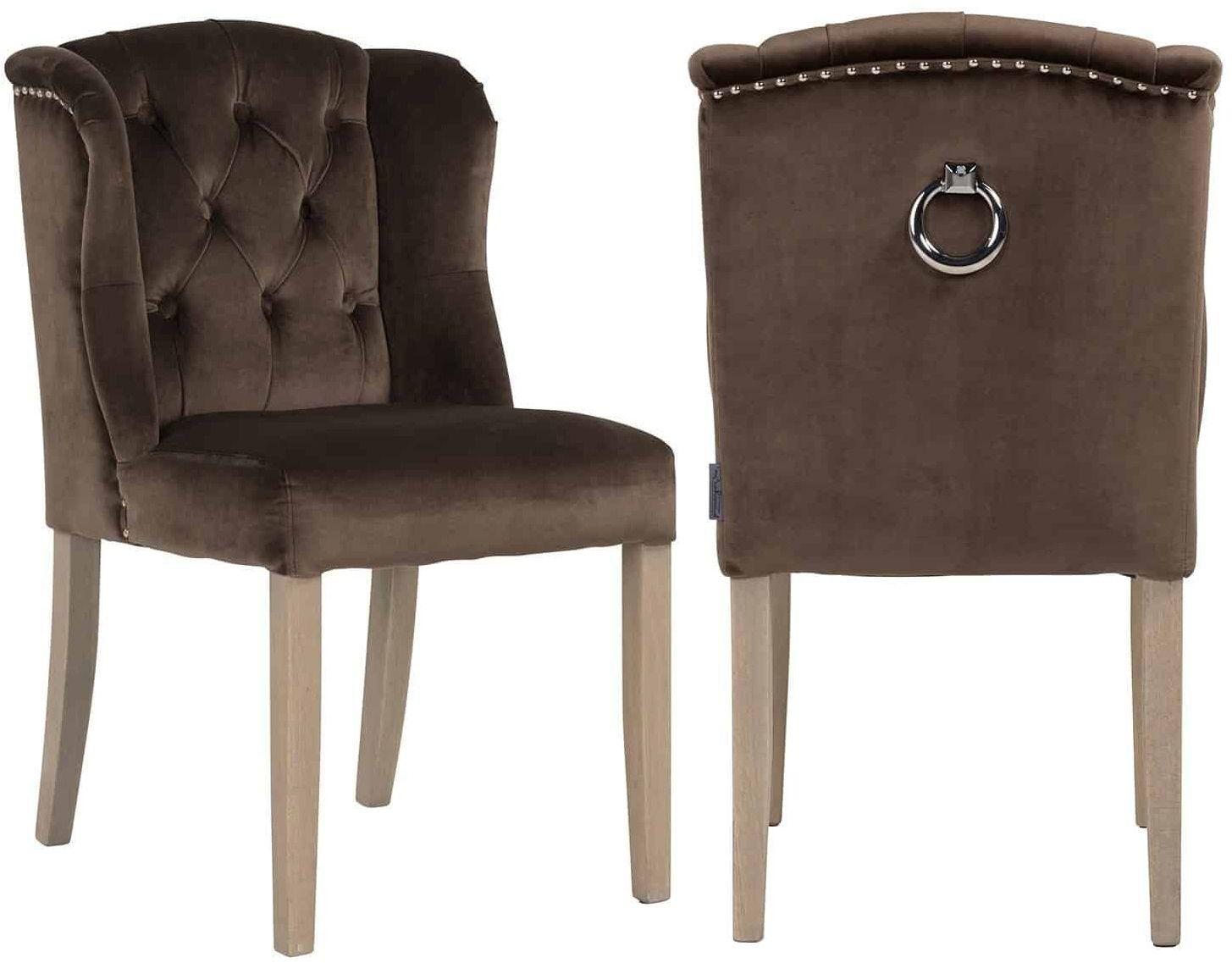 Macy Fabric Dining Chair (Pair)